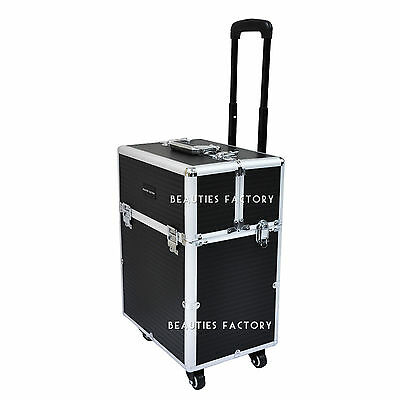 Beauty Trolley Vanity Case Make up Cosmetic Box Bag Hairdressing Nail Salon 855