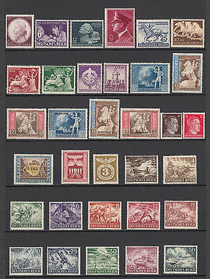 German Third Reich 1942/45 Full Collection  MNH  Luxe Michel CV $420. 3 Scans