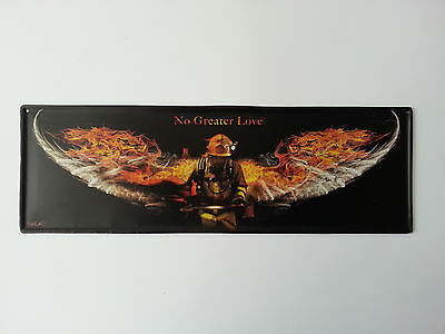 Firefighters Wings Metal Tin Sign Fireman Man Cave Perfect Father's Day Gift