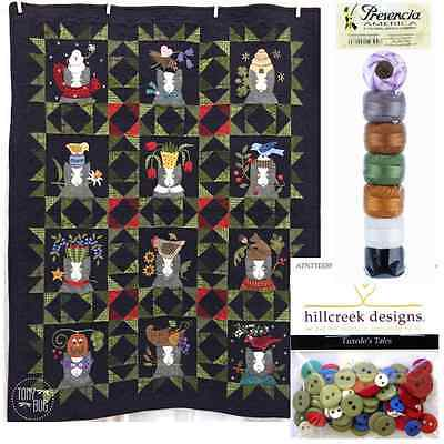 Tuxedo's Tales Quilt Pattern, Buttons & Thread ~ Wool / Woolies Flannel Applique