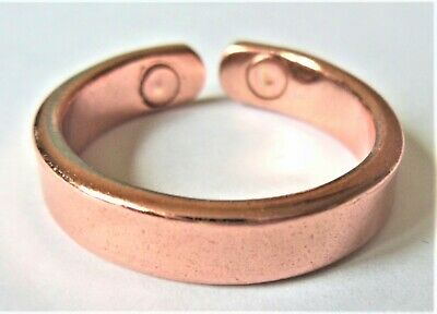 Classic Copper Magnetic Ring 3-sizes Small Medium Large Hand Crafted Arthritis