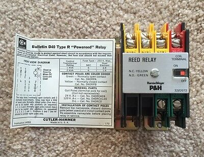 Cutler Hammer P&H 32Z2072 Reed Relay 120v Coil