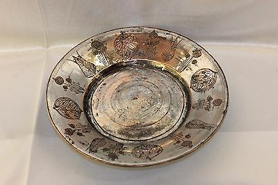 Antique Original Handmade Written Armenian  Copper  Anatolian    Plate