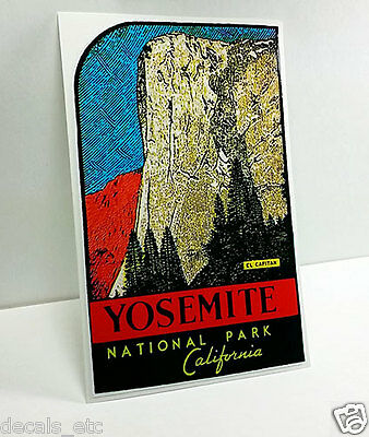 Yosemite National Park El Capitan Vintage Style Travel Decal / Vinyl Sticker