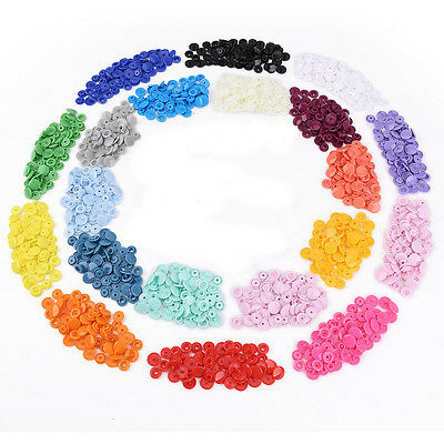 KAM Snap Kits w 300 Complete Sets KAM T5 Size 20 Plastic Snaps Fastener Buttons