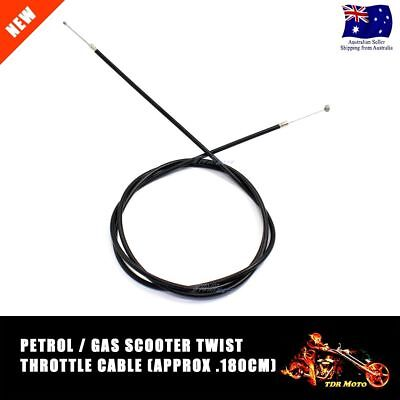 Universal 180cm Straight Throttle Cable for Gas Petrol Scooter Go Kart Mini Bike