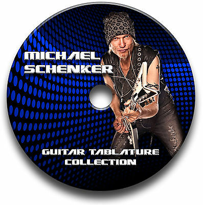Michael Schenker Group Msg Hard Rock Guitar Tabs Tablature Song Book Software Cd