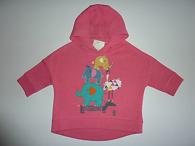 NEXT Gorgeous Little Pink Elephant Hoodie NWT