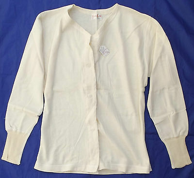Vintage ladies spencer vest UNUSED long sleeve button front LENA LASTIK 20s 30s