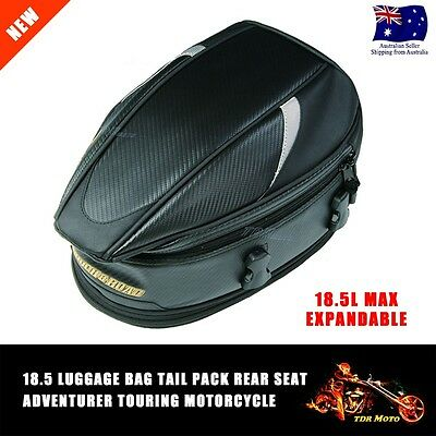 Motorcycle Touring Rear Pillion Seat Tail Bag Luggage Suit Kawasaki Honda Yamaha