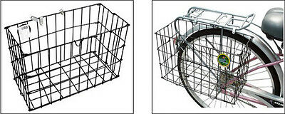 Grocery Commuter Side Mount Wire Black Folding Rear Basket For Bike Bicycle