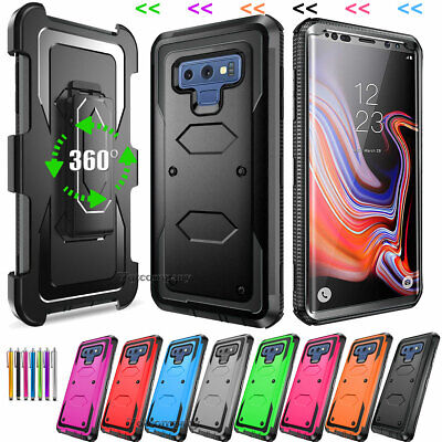 Rugged Hybrid Hard Cover Shockproof Clip Case for Samsung Galaxy Note 9 8 S8 S9+