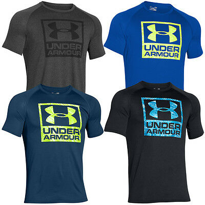 Under Armour Tech Boxed Logo Tee Herren T-Shirt Kurzarm Shirt Sport Freizeit