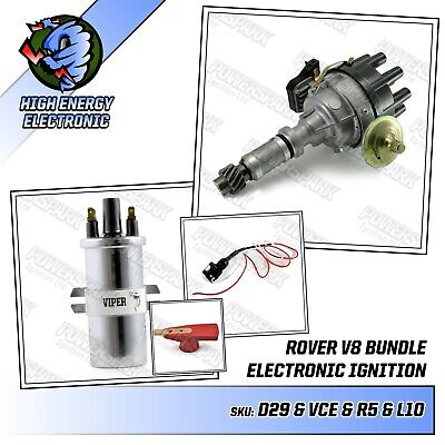 Rover P5 P6 V8 early male type drive gear distributor Viper dry coil & link lead