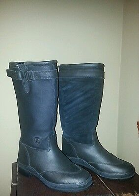 New Ariat Youth Size 13 Thinsulate Waterproof Tall English Black Riding Boot! FS