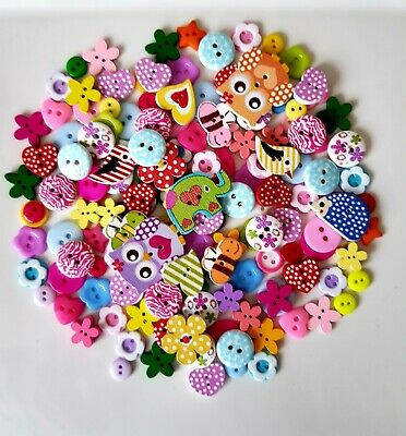 150 Best Quality Wooden Resin Mix Buttons Craft Scrapbooking Sewing Cardmaking
