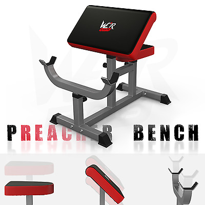 We R Sports Preacher Arm Curl Bench Arms Biceps Gym Dumbbell Barbell Heavy Duty