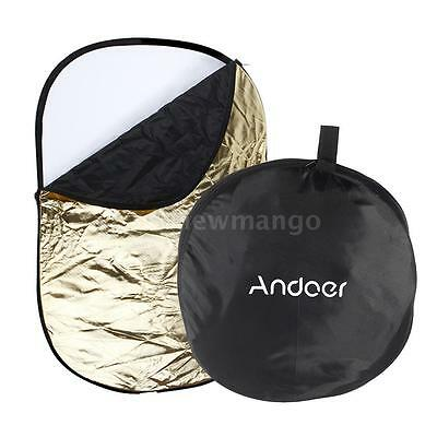 60 * 90cm 5 in 1 Multi Collapsible Studio Photo Photography Light Reflector S0M3