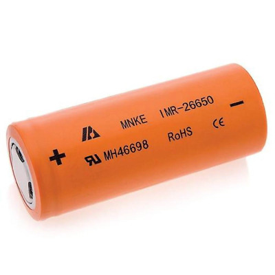1x MNKE IMR 26650 High Current 60A Rechargeable Lithium Battery Li-ion Batteries