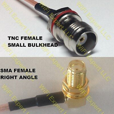 USA-CA RG174 BNC FEMALE to SMA MALE Coaxial RF Pigtail Cable