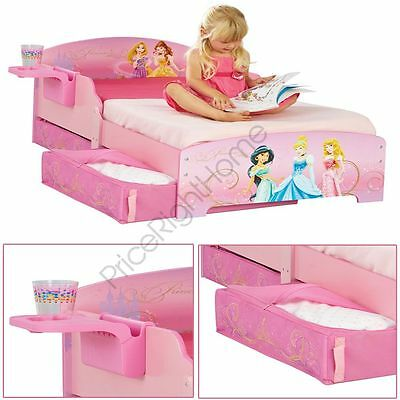Disney Princess Toddler Bed Includes Shelf + Underbed Storage Kids 18 Month +