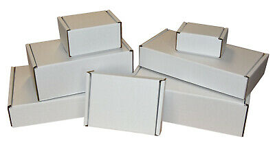 White Die Cut Folding Lid Postal Cardboard Boxes Small Mailing Shipping Cartons