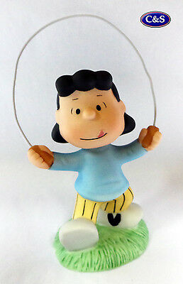 """Peanuts (Snoopy) Collectable  - Lucy skipping ceramic figurine  - 4"""" tall (8217)"""