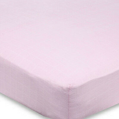 Aden and Anais For the Birds (solid pink) classic crib sheets (new)  single