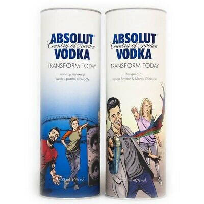 Absolut Vodka Transform Today Tube / Tins Polish Edition 2x700ml - leer