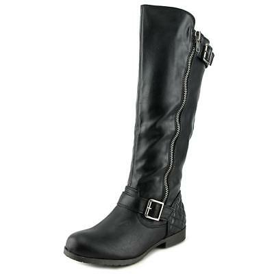 Material Girl Larisa Women  Round Toe Synthetic Black Knee High Boot