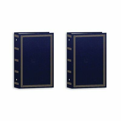3-ring pocket Navy Blue Photo Album for 504 photos by Pioneer - 4x6 (Two Pack)