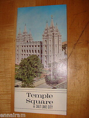 Mormon Temple Square Salt Lake City Utah brochure  Church of Latter Day Saints