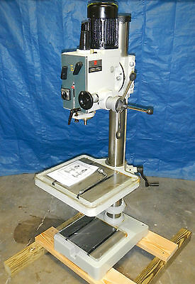 "20""  Geared Head 6 Speed Drill Press 1 Hp  220 Volts 3 Phase"