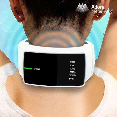 Neck Vive Massager With Infrared Heat + Pain Relief Electric Impulses Vibrations