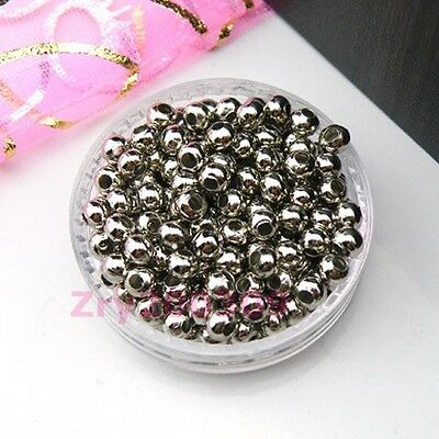 Dull Silver Plated Metal Spacer Beads 2.4mm,3.2mm,4mm,5mm,6mm,8mm R0054
