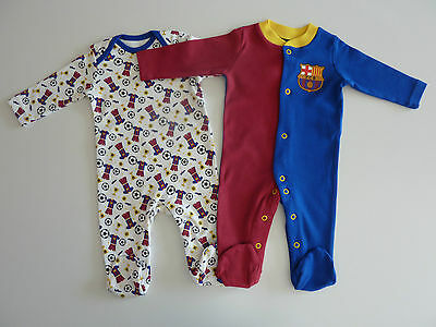 BARCELONA FC Pack of 2 Sleepsuits NWT