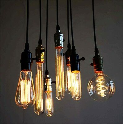 Industrial Vintage Dimmable Edison Filament Light Bulb Squirrel Cage E27-40/60W