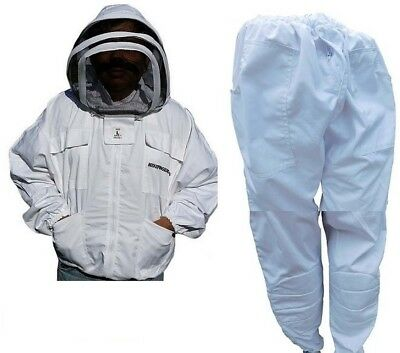 Beekeeping  Bee Jacket & Trouser Two Pieces Suit Heavy Duty Professional Quality