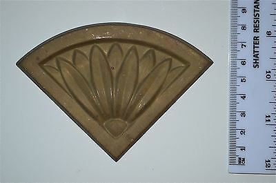 Original antique pressed brass furniture mount mirror cartouche emblem G19
