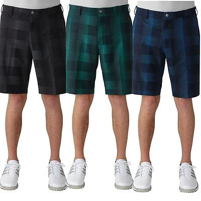 Adidas Golf 2016 Ultimate Competition Slim Fit Mens Funky Plaid Shorts