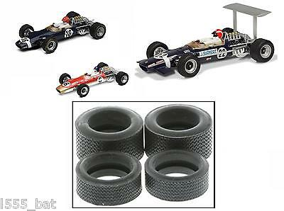 Scalextric W9588 Tyres 4 Pack 'New' Classic Lotus Type 49 F1 C2964 C2923A C3222