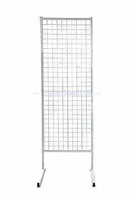 General Purpose Mesh Floor Stand POS Retail Shop Display in White (K34)