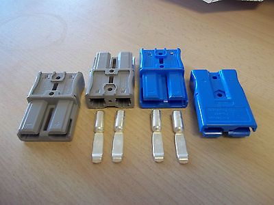 Anderson Sbs50 Finger Proof Connector Housings (2) & Contacts (4) - Ups, Battery