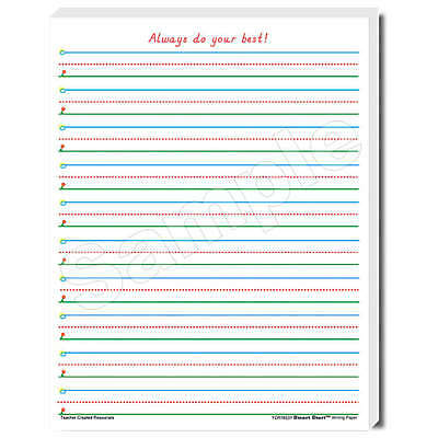Teacher Created Resources SMART START 1-2 Writing Paper Pack of 100 sheets