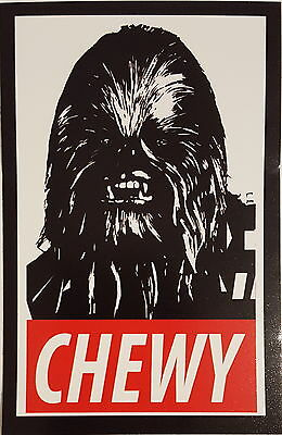 "*** Star Wars Sticker - Chewbacca - ""Chewy"" - Han Solo - ca.6x9,5 cm ***"