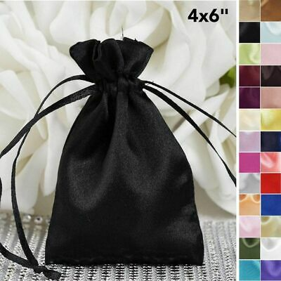 "60 pcs 4"" x 6"" SATIN FAVOR Drawstring BAGS - Gift Pouches Packaging Cheap SALE"