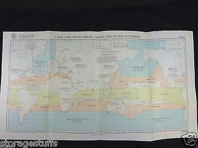 World Load Line Rules- Zones Chart/Areas& Seas. Periods/1968, No. D6083/Ritchie