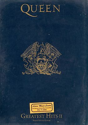 Queen - Greatest Hits Ii Songbook -  Piano/vocal/guitar Sheet Music Book