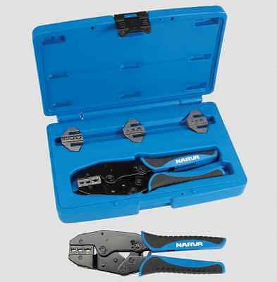 Narva 56513 Ratchet Crimping Tool Insulated NonInsulated Cable Lug Anderson Plug