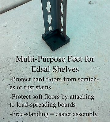 Edsal Heavy-Duty Utility Shelving Feet (set of 4)
